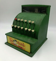 Western Stamping Co. Green Toy Tom Thumb Cash Register - Works 961g