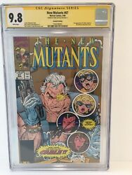 New Mutants 87 Cgc 9.8 Signed Rob Liefeld 1st App Cable 2nd Printing 3/90 Marvel