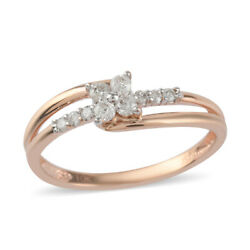 10k Rose Gold White Diamond Ring Gift Jewelry Size 7 Ct 0.07 H Color I3 Clarity