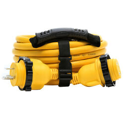 Camco 30 Amp Power Grip Marine Extension Cord 25and039 M-locking/f-locking Adapter