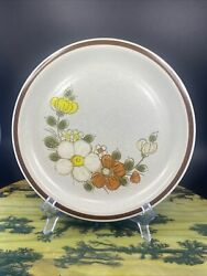 Set Of 4 The Woodhaven Collection Stoneware Sunny Brook Dinner Plates 10.75d