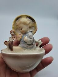 Goebel Hummel 36/0 Holy Water Font Child With Flowers