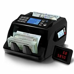 Money Counter Machine Mixed Denomination Value Counting, Bank Grade 8 Detections