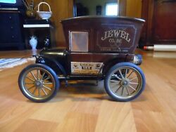 Jewel T Co. Model T Delivery Truck Decanter Jim Beam Empty