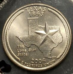 2004-p Unc Texas State Quarter, Free Shipping