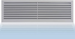 36 X 10 Return Vent Cover And Heat Wall And Ceiling Ac Register. Gable And Hvac