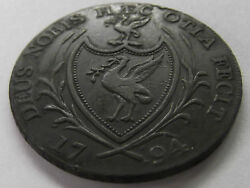 1791 / 1794 Great Britain Liverpool Halfpenny Mule Condor .... Free Shipping