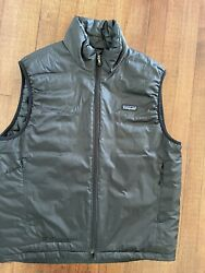 Puffer Sweater Vest Jacket Size Medium Black Down Insulated Reversible