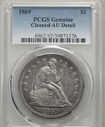 1869 Seated Liberty Silver Dollar 1, Very Rare Issue