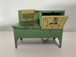 Vintage 1930s 40s Empire Electric Metal Toy Kitchen Green Stove As Is Untested