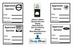 Approved Garage Service Stamp 28mm X 28mm - Self Inking - Ideal For Home Service