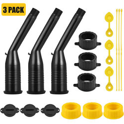 3-pack Gas Can Replacement Spout Kit,pour Nozzle With Gasket, Stopper Caps,usa