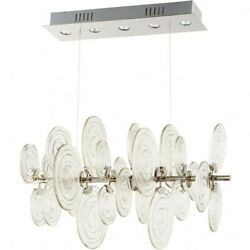 Erskine Lea - Five Light Pendant Polished Nickel Finish With Clear Glass -