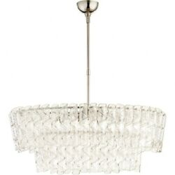 Poppy Cliff - Eight Light Chandlier  Polished Nickel Finish With Clear Glass -