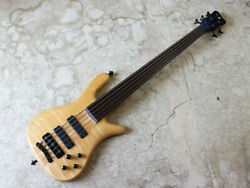 Used 2007 Warwick Streamer Stage I 5st Natural Fretless Mod Bass Hh W/hsc