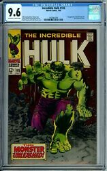 Incredible Hulk 105 Cgc 9.6 1st Missing Link New Cgc Case Marvel Silver Age 1968