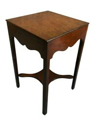 Antique Oleland Square Traditional Style Side Table