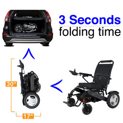 Leopard Exculusive Foldable Lightweight Portable Electric Power Wheelchair 500w