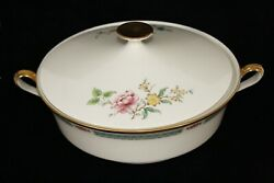 Rare Discontinued Lenox China Morning Blossom Round Covered Vegetable Dish