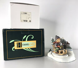 Vintage Hummel Ride Into Christmas With Hummelscape Christmas Frolic 2 Piece Set