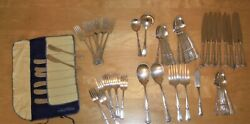 63 Pieces Stately By State House Sterling Silver Flatware Set For 8 Plus Extras