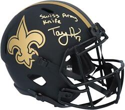 Taysom Hill Saints Signed Eclipse Alternate Rep Helmet And Swiss Army Knife Insc