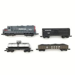 Lot Of 4 High Speed Metal N Scale Southern Pacific Locomotive Freight Cars
