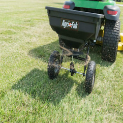 Pull Behind Broadcast Spreader 85 Lb Tow Hopper Fertilizer Seed Atv Lawn Tractor