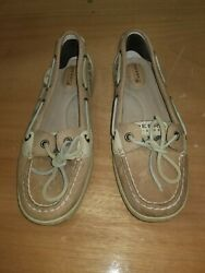 Womens Shoes 9 Sperry Top Sider Slip On Sperrys Cheetah Print Sequence Flats