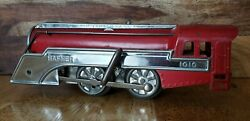 Antique Hafner Streamliners Model 1010 Tin Wind-up Toy Train And Track 1930's Exc