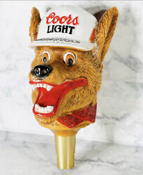 Vintage 1980and039s Coors Lightbeer Wolf Tap Handle Golden Colorado