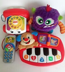 Fisher Price Baby/toddler Toys Laugh And Learn Giggles And Growls Pull Phone