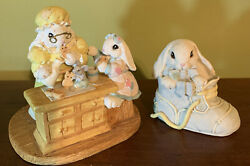 Patchville Bunnies Collection Set Of 2 Grandma's Cookies 1996 And Baby Josh 1993