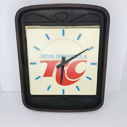 Vintage Royal Crown Rc Cola Light Up Clock Man Cave Sign 16x13 Tested Working