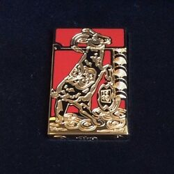 St Dupont Year Of The Goat Linge Line 2 Limited Edition Gold Lighter Red Lacquer