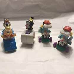 Vintage Animaniacs And Tiny Toons Mcdonalds Toy Warner Bros 1993 Set Of 4
