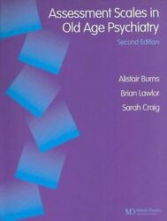 Assessment Scales In Old Age Psychiatry By Alistair Burns 9781841841687