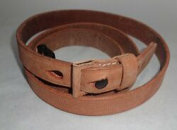 German Wwii Military K98 Rifle Sling Mauser 98k Brown Leather Sling