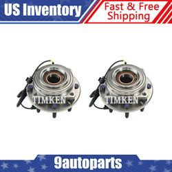 Timken Wheel Bearing And Hub Assembly Pair Front Lh And Rh Sides For Ford F250 F350