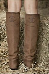 Brown Ascot Leather Riding Boots Size 42