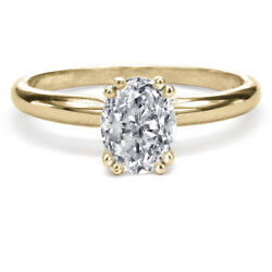 11250 Yellow Gold Oval Diamond Engagement Ring 1.00 Ct Solitaire Si2 22153088