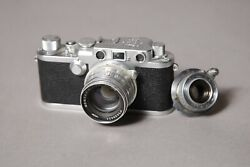 Leica Iiif With Industar 22 Red P 50mm F3.5 And Jupiter 8 Red P 50mm F2