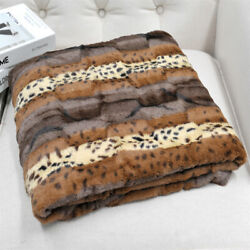 Animal Print Double Sided Faux Fur Throw Blanket Heavy Warm Soft for Adults Gift $35.99
