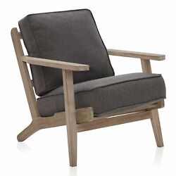 Accent Chair Available In 9 Options Wood Frame Linen Arm Chair