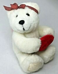 Teddy Bear Plush Red Heart Stuffed Animal The Petting Zoo Valentine Vintage Toy