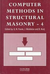 Computer Methods In Structural Masonry - 4 Fourth International... 9780419235408