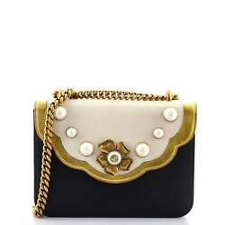 Gucci Pearly Peony Chain Shoulder Bag Leather Small $1134.00