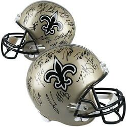 2016-2017 New Orleans Saints Signed Riddell Pro Line Helmet With Multiple Sigs