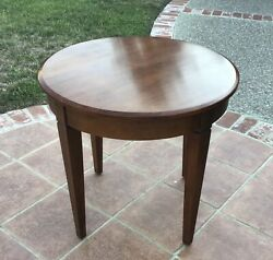 Ethan Allen Heirloom Maple Round Accent Side End Tables 27-8204 235 Clean