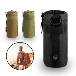 Military Molle Tactical Travel Water Bottle Pouch Carry Bag Hydration Backpack $6.99